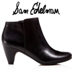 Sam Edelman Meredith Black Leather Ankle Booties